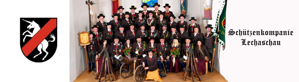 schuetzenkompanie lechaschau gruppenfoto kirche