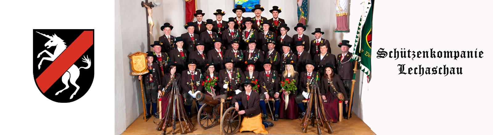 Schützenkompanie Lechaschau mit Wappe